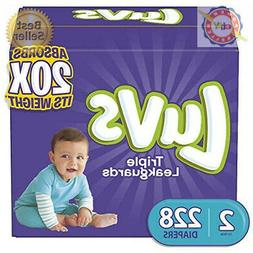 Luvs Ultra Leakguards Disposable Baby Diapers, Size 2, 228 C