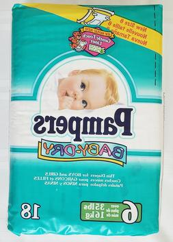 Vintage Pampers Baby-Dry Size 6 - First Edition from 1998 -