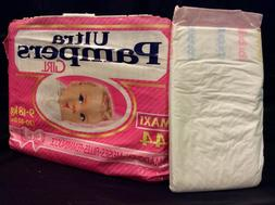 Vintage Ultra Pampers Diaper Sz Maxi for Girls Europe Import