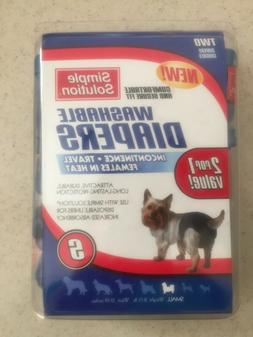 Simple Solution Washable Dog Diapers 2-PACK  SMALL.