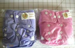 Waterproof Soft Baby Cloth Pocket Diapers with 2 Inserts Reu