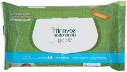 Seventh Generation Baby Wipes - Unscented - 30 ct