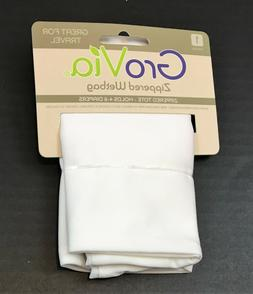 GroVia Zippered Wetbag/ Tote, Holds 4-6 Diapers, White